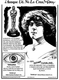 Trauma, Cleveland, Ripley Believe It Or Not, Weird Facts, Crazy Facts, April 25, Star Shape, Comic Strips, Eyes