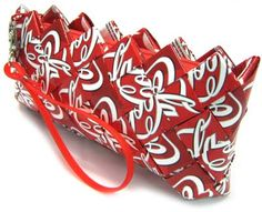 """""""Candy Wrapper"""" Purse made with fabric 