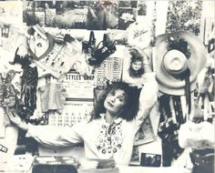 Betsey Johnson photographed at the Chelsea Hotel in the 1970s. Description from thefacelondon.wordpress.com. I searched for this on bing.com/images