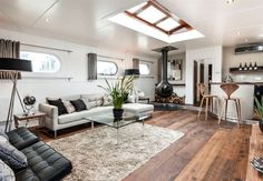converted dutch barge - Google Search