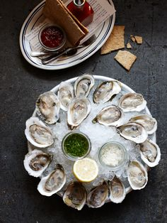 oysters on the half shell / the optimist restaurant / atlanta