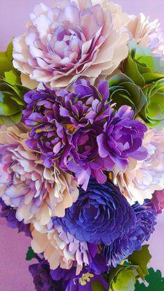 Majestic - Cascading Bouquet - Couture Paper Flower Bouquet