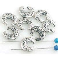 8 moon 2 hole slider beads 11233