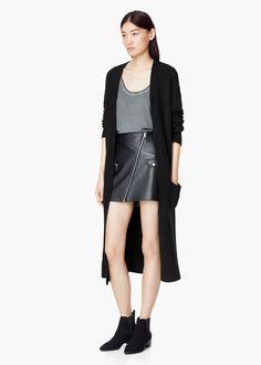 Pocket long cardigan -  Women | MANGO