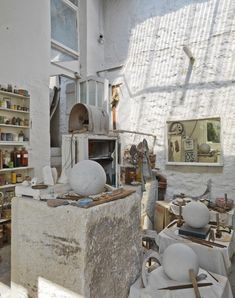 Barbara Hepworth's studio, St Ives, Cornwall.