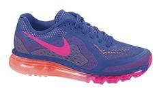 $115 - Nike Air Max 2014 Sz 11.5 Womens Running Shoes Blue New In Box #nike