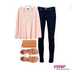 #OutfitEme Los tonos pasteles no pasan de moda ¡Atrévete a usarlos! Para saber más de moda y ser toda una fashionista entra en nuestra página web http://ve.emedemujer.com/moda/.