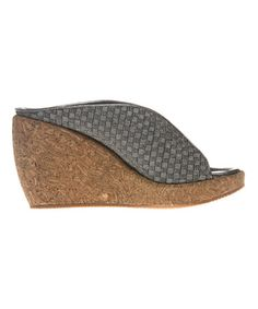 Love this Pewter Cork Wallis Wedge Sandal on #zulily! #zulilyfinds
