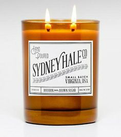 Bourbon & Brown Sugar candle. It doubles as a glass when it burns out. SO cool!