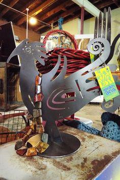 #Rooster #Art #BlingBling #BuyLocal #GardenDeva www.gardendeva.com