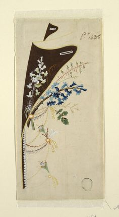Drawing, Embroidery Design: Top Pa, ca. 1785