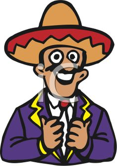 iCLIPART - Clip Art Illustration of a Mexican Chef in a Sombrero ...