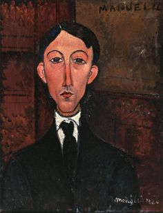 Bust of Manuel Humbert, Amedeo Modigliani Medium: oil on canvas
