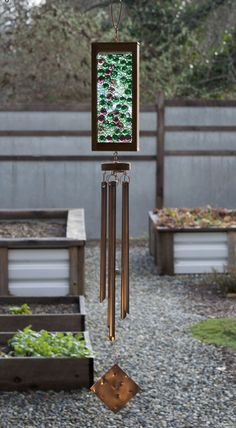 Wind Chime Green Lilac Glass Suncatcher Wind Chimes