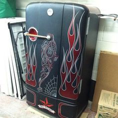 """""""One of THE most bad ass refrigerators I have EVER seen!"""" TO which I agree! Would AMAZE me to have this included in our kitchen!"""