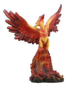 Ebros Fawkes Resurrection of The Phoenix Fire Bird Statue Symbol of Transformation and Rebirth Figurine Girl Back Tattoos, Lower Back Tattoos, Tattoos For Guys, Phoenix Harry Potter, Bird Statues, Fantasy Creatures, Tattoo Designs, Tattoo Ideas, Colorful Backgrounds