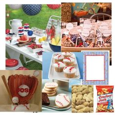 baseball theme party - great for Fathers day or a birthday/team party