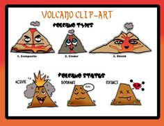 Volcanoes are already awesome, but with popular anime style and easy reference… Volcano Science Projects, Volcano Science Experiment, Rock Science, Science Projects For Kids, Social Science, Volcano Worksheet, Volcano For Kids, Teaching Geography, Home Crafts
