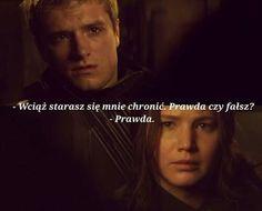 The Hunger Games Igrzyska Śmierci Mockingjay Kosogłos Katniss Peeta Peetnis Prawa czy fałsz real or not real quote cytaty