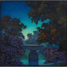 Maxfield Parrish - Altar Among Blue Dreams