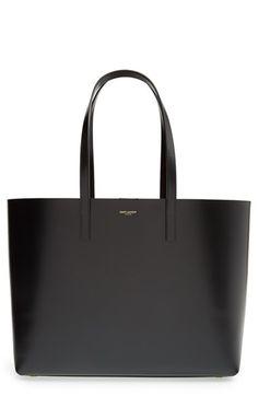 Saint Laurent Double Face Leather Shopper available at #Nordstrom