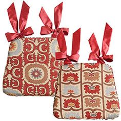 Quilted Chair Cushion Cover With Insert From Ballard Designs For Dinning Room Chairs
