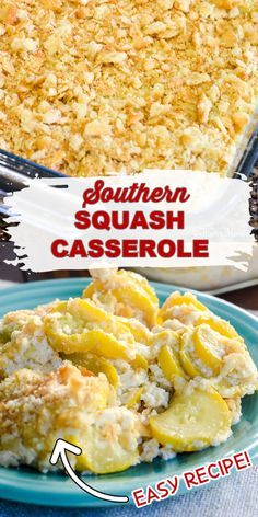 Easy Squash Casserole, Southern Squash Casserole, Yellow Squash Casserole, Casserole Recipes, Casserole Dishes, Squash Cassarole, Breakfast Casserole, Breakfast Recipes, Dessert Recipes
