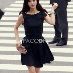 Spring Summer 2013 Solid Color Round Neck Bowknot Dresses