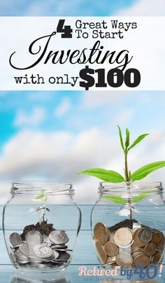 Did you know that you could start investing with as little as $100? Yes, it's true! 4 Great Ways To Start Investing with $100 http://www.retiredby40blog.com/2015/11/02/5-great-ways-start-investing-100/