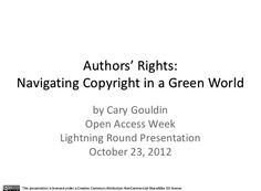 Authors' Rights : Navigating Copyright in a Green World / @torloney | #readytocopy