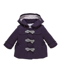 Purple Bow Toggle Coat by Chicco #zulilyfinds #zulily