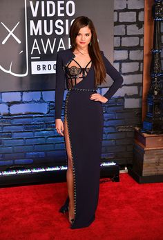 Ah, Versace.  That explains a lot!Selena Gomez made our best dressed list in this sleekAtelier Versace gown.Check out more best and worst here! via StyleList