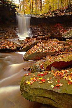 Blue Hen Falls-Cuyahoga Valley National Recreation Area, Boston Mills, Ohio ~by Daniel G. Flocke