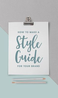 On the Creative Market Blog - How to Create a One-Page Brand Style Guide