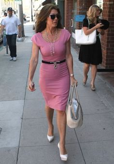 lisa vanderpump pink dress - work wear - work clothes