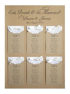Paper Lace Table Plan A2 by STNstationery on Etsy, £45.00