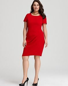 DKNYC Plus Size Pleat Dress| You've posted a great internet dating personals profile http://aprilbraswell.com/blog/products/internetdatingprofilewriter. You've exchanged messages and now it's time to meet for a great first date. Selecting this men magnetizer hot spit va vavoom red dress, you're sure to be asked out for a second date. This great first date dress from DKNYC strikes just the right note for dating. It's alluring in red w/o overdoing it with a plunging neckline. PERFECT!