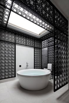 This bathroom is from a hotel in Xiamen, China, designed by Team BLDG. Photography by Nacasa & Partners This bathroom is from a home in Sydney, Australia, designed by CplusC Architectural Workshop.