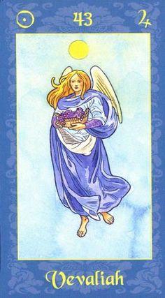 ángel veveliah -1 Mayo - este día corresponde a la Virtud del patrón de los soldados,es el que los mantiene vivos en el campo de batalla, además ayuda a liberar a los esclavos en el sentido físico y a los presos de adicciones y vicios.