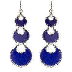 Annoushka Cloud Nine Nocturnal Chandelier Earrings ($16,875) ❤ liked on Polyvore featuring jewelry, earrings, womens jewellery, chandelier jewelry, white gold jewelry, white gold jewellery and graduation jewelry