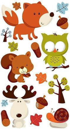 Forest Friends Stickers