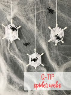 Decorate your home for Halloween with this simple Q-tip hack to make a bunch of spider webs. Spider Web Craft, Spider Web Decoration, Spider Crafts, Spider Webs, Homemade Halloween Decorations, Halloween Crafts For Kids, Easy Halloween, Holidays Halloween, Fun Crafts