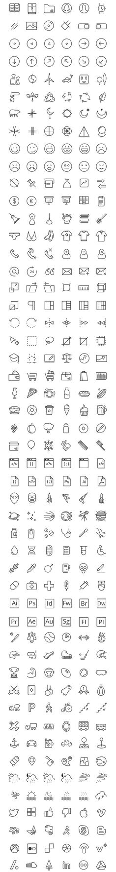 Here's a new set of 300 free icons from RetinaIcon collection made available exclusively for GraphicBurger. Web Design, Icon Design, Logo Design, Graphic Design, Symbol Design, Identity Design, Icones Cv, Ios Icon, Icon Collection