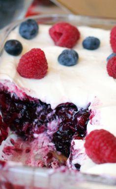 Blueberry Raspberry Jello Salad