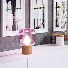 Enrico Zanolla Picia Glas und Kork Tischlampe, lila LTPC23PC: AmazonSmile: Beleuchtung