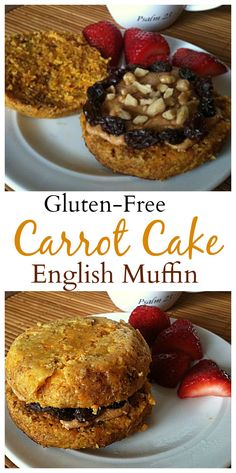 One of my most popular recipes: #glutenfree Carrot Cake English Muffin made in the microwave! This is an amazing breakfast, snack or dessert! #healthy #vegan