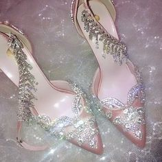 **Rush order please contact us ** Processing time business days after payment . Fancy Shoes, Pretty Shoes, Me Too Shoes, Flat Shoes, Shoes Sandals, Wedding High Heels, Bridal Heels, Rose Gold Heels, Mode Shoes