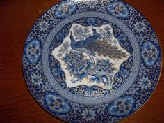 "IMPERIAL PEACOCK 10"" BLUE PLATE 1983 EDITION $16.00"