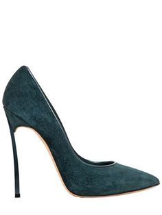 CASADEI - 115MM SUEDE BLADE PUMPS - LUISAVIAROMA - LUXURY SHOPPING WORLDWIDE SHIPPING - FLORENCE