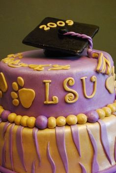 LSU graduation Cake by Keyes Couture Cakes, via Flickr